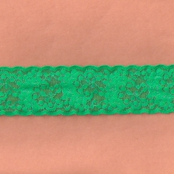 """5 Yds  2 1/8""""   Green Stretch Lace    4409"""