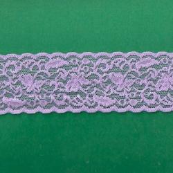 "50 Yds  2 1/4"" Spool Lilac Stretch Lace  4410"