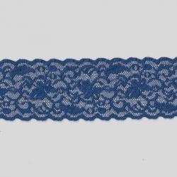 """5 Yds  2 1/4""""  Blue Stretch Lace 4413"""