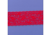 """50 Yds  2 1/2""""  Really Red Stretch Lace  4421"""