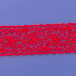 "5 Yds  2 1/2""  Really Red Stretch Lace  4421"