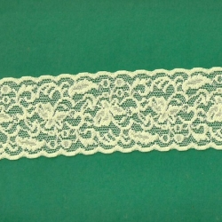 "5 Yds  2 1/2""  Pastel Yellow Stretch Lace  4435"