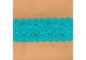 """5 Yds  3""""   Turquoise  Stretch Lace  4437"""