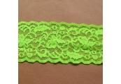 "5 Yds  2 1/4""  Neon Green Stretch Lace  4452"