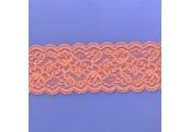 "5 Yds  3""  Sliced Orange  Stretch Lace  4453"