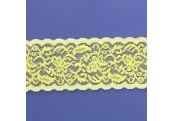 """5 Yds  2 1/2""""  Canary Yellow Stretch Lace  4455"""