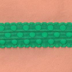50 Yds   2 3//8  Green Spots Lace 4460