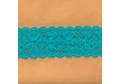 """50 Yds 3""""   Turquoise Stretch Lace 4474"""