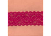 """5 Yds   3""""  Berry Red Stretch Lace 4485"""