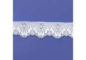 "5 Yds  1 3/4""    White  Stretch Lace  4610"