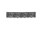 "5 Yds  3/4""     Black  Stretch Lace 4631"