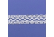 """5 Yds  1 1/4""""  Off White Beading Stretch Lace 4762"""