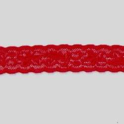 "125 Yds   1""  Red Stretch Lace   4828"