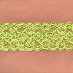 """5 Yds   3""""  Lime Frost Stretch Lace   4829"""