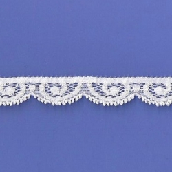 """125 Yds   9/16"""" Spool  Pearl Stretch Lace   4832"""