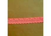 "188 Yds  1 1/8""   Spool Orangy Pink Eyelet Stretch Lace  4833"