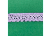 "5 Yds  1 1/8""   Lavender Eyelet Stretch Lace   4836"