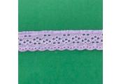 """50 Yds  1 1/8""""   Lavender Eyelet Stretch Lace   4836"""
