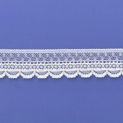 """100 Yds 1""""  Spool White Stretch Lace   4837"""