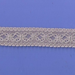 """5 Yds   1 1/8""""   Taupe Stretch Lace   4839"""