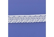 "5 Yds 1""  White Stretch Lace  4845"