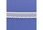 "5 Yds 7/8""  White Stretch Lace  4851"