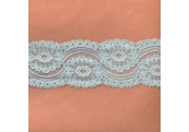 """5 Yds 2 3/4""""  Ether BlueGreen Stretch Lace  4852"""