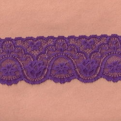 "50 Yds 2 3/4"" Plum Stretch Lace  4854"