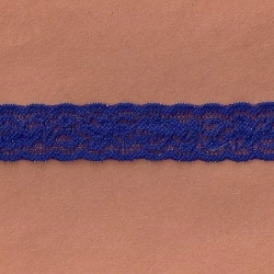 "185 Yds 1"" Spool   Sapphire Blue Stretch Lace  4858"