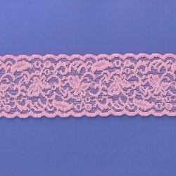 "5 Yds 2 1/2""  Pink Stretch Lace  4863"