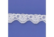 "100 Yds  1 1/8"" Spool White Stretch Lace 4869"