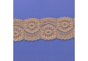 "5 Yds 2 3/4""  Soft Tan Stretch Lace  4885"