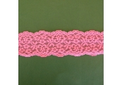 "5 Yds 2 1/8""  Pink Stretch Lace  4886"