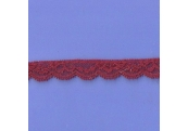 """5 Yds  3/4"""" Pinot Red Stretch Lace4893"""