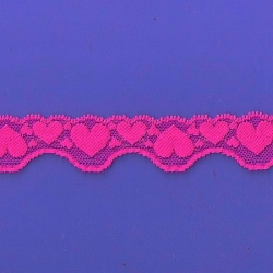 "100 Yds 1 1/8"" Spool Gypsy Rose Hearts Stretch Lace 4894"