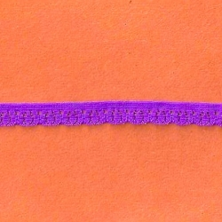 "336 Yds Spool  3/8""  Neon Purple Stretch Lace 4901"