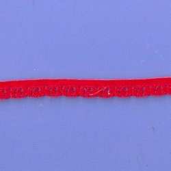 "5 Yds  3/8""  Red Stretch Lace  4909"