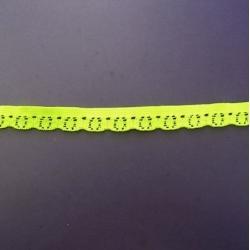 "391 Yds  3/8""   Neon Lemon Stretch Lace  4910"
