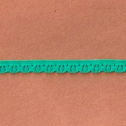 "242 Yds Spool  3/8""  Green Zeal Stretch Lace  4913"