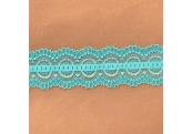 "50 Yds  2"" Spool Aqua  Stretch Lace  4915"