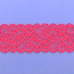 """5 Yds  3""""  Red Stretch Lace  4926"""