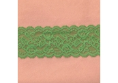 "5 Yds  3"" Northshore Green Stretch Lace 4927"