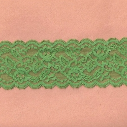 """5 Yds  3"""" Northshore Green Stretch Lace 4927"""