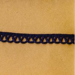 """5 Yds   7/16""""    Navy Braid w/ Loops Trim  1180"""