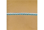 "5 Yds   3/8""  Aqua Braid w/Loops Trim   1191"