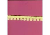 "9 1/3 Yds   1/2""    Yellow Braid/ Soft Loops  1514"