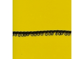 "5 Yds   1/4""   Tiny Black Loop Trim    1560"