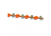 "5 Yds  5/16""  Orange/Green Rose Trim   2191"