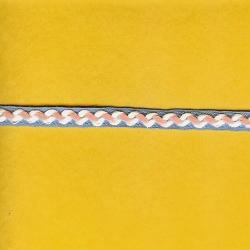 "4 Yds    3/8""  Pink/Blue/White Braid   785X"