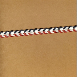"5 Yds   3/8""    Red/Navy/White Trim  3090"